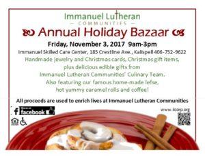 2017 Holiday Bazaar Event