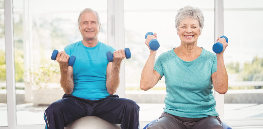 Seniors exercising to benefit brain health and prevent Alzheimer s disease