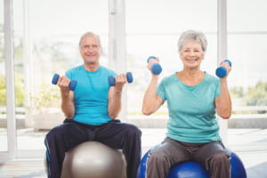 Seniors exercising to benefit brain health and prevent Alzheimer's disease