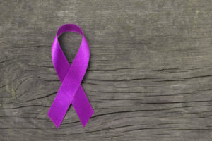 Purple ribbion for alzheimer's and brain awareness