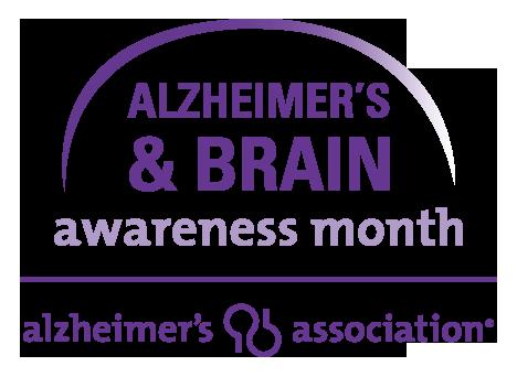 Logo for Alzheimer's & Brain Awareness Month