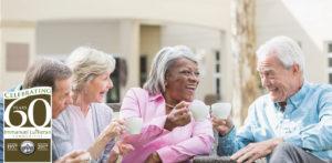 Seniors having coffee