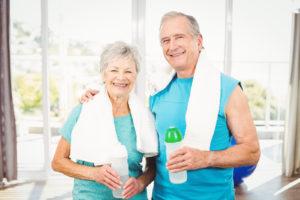 Older adults enjoying taking part in a senior fitness program